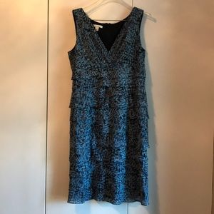 Dress Barn Size 14 Blue and Black dress